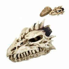 Bone Color Smoke Spike Head Dragon  Box Incense Holder Burner Collectible