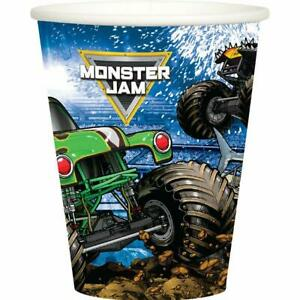 Monster Truck Jam Grave Digger Paper Cups 8 Per Package Birthday Party Supplies