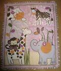 Cocalo Baby Jacana Comforter Crib Quilt Jungle Animals Zoo Purple Pink Girl