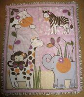 Cocalo Baby Jacana Comforter Quilt Giraffe Monkey Zebra Elephant Hippo Girl Crib