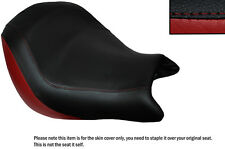DARK RED & BLACK CUSTOM FITS HONDA VTX 1800 02-04 FRONT LEATHER SEAT COVER