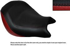 Rojo oscuro y negro Custom encaja Honda Vtx 1800 02-04 Frontal De Cuero Funda De Asiento