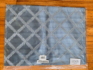Lenox blue fabric placemat 4 NEW, 2 USED