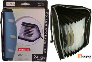 1 x CD DVD BLU RAY ZIPPER Wallet HOLDS 20 DISCS - MAX24 – Accordion Style