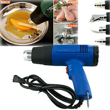 110V/220V Home&Garden Heat Gun Dual Temperature With 4 Nozzles Power Tool Plug