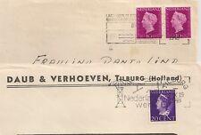 2 COVERS  PAYS BAS NETHERLANDS TILBURG GRAVENHAGE. L497