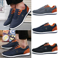 Fashion Men's Sport Casual Shoes Lace Up Sneakers Flats Breathable Walking Shoes
