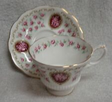 Royal Albert Cameo Series Keepsake Pink Rose  Cup and Saucer