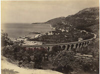 Italia Trieste Barrola, Vintage Albume D'Uovo Stampa Albume D'Uovo, Ca 1880