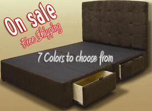 Tiffany 4-Drawer Platform Bed/ Storage Mattress Box - Quality & Elegance ON BF14