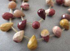 Mookaite Faceted Teardrops Beads 32pcs