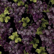 Luscious Grapes on Vines, Vineyard Classics II, Kanvas for Benartex (By 1/2 yd)