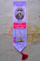 2005 Cash Stevengraph Woven Silk Bookmark -  Nelson Victory Trafalgar Royal Navy
