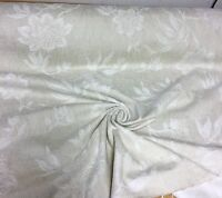 BEAUTIFUL CREAM SOFT CHENILLE CURTAIN UPHOLSTERY FABRIC 3.2 METRES (1..6+.1.6)