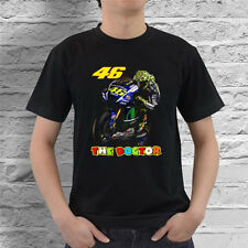 VALENTINO ROSSI 46 THE DOCTOR MOTOGP BLACK T-SHIRT #1 SIZE S-2XL