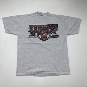 Vintage 90s UNLV Rebels T-Shirt Size XL Gray University Of Nevada Las Vegas