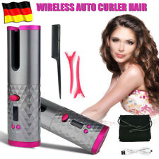 Lockenstab Lockenwickler Reise Schnurloser Automatisch Rotierender Hair Curler
