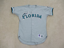 VINTAGE Florida Marlins Baseball Jersey Adult Large Gray Game Used Mens 90s A118