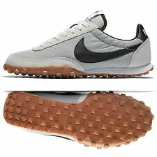 Nike Waffle Racer '17 876255-100 Off White/Black/Safety Orange Men Shoes Sz 8.5