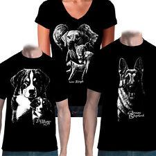 T-Shirt Hund, Schäferhund, Boxer, Dobermann, Bulldog, Rottweiler, Dogge S-5XL