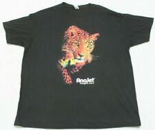New Spectra Cheetah Cat AnaJet Imagine More Black Tee T-Shirt XL Short Sleeve
