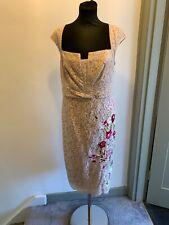 Karen Millen Floral Lace Pencil Dress UK Size 14