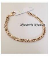 Bracelet Maille Palmier Plaqué Or 18 Carats 750/1000 Bijoux Femme