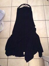 Dark in Love Bell Manche sorcière robe noire à ourlet asymétrique gothique Beauté DW254