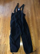 POLARTEC BIB OVERALLS FLEECE SKI SNOW PANTS Military BLACK XL LONG Preowned