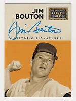 2014 Panini Golden Age Historic Signatures Jim Bouton New York Yankees Autograph