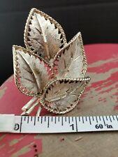 Vintage beautiful leaves brooch