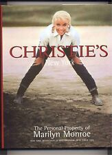 CHRISTIE'S Personal Property Marilyn Monroe COUTURE MOVIES Auction Catalog NEW