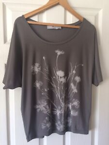 Stella McCartney Adidas Grey Floral Top Size 38