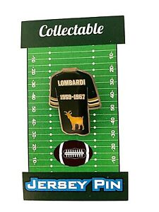 Green Bay Packers Vince Lombardi jersey lapel pin-Classic Cheese Collectible