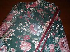 2 Croscill Granada Pink Blue Floral Green 102 x 25 Scarf Valances