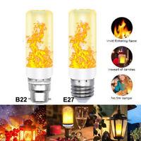 B22 E27 LED Flicker Flame Bulb Burning Light Fire Effect Lamp Party Decor 4 Mode