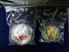 Malaysia China Ping Pong World Cup Table Tennis silver Proof Set of 2 Coin