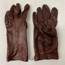 RAF & ARMY BROWN LEATHER OFFICERS MEN'S DRESS GLOVES - Size: 7 - British Issue