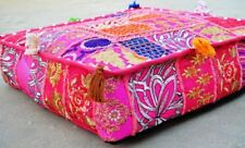 Indian Mandala Large Floor Ottoman Pouf Cushion Pillow Cover Square Pet Pink