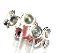 Natural gemstone Rainbow Moonstone 925 Sterling Silver Ring Size 8