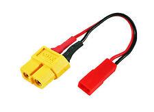 XT-60 (F) to JST (M) Charging Plug Lipo Battery Adapter Lithium LiPoly K2