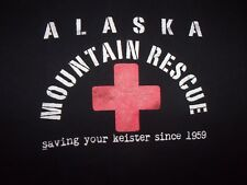 Alaska Mountain Rescue black graphic S t shirt savin you re Kiester since 1950
