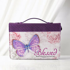 """BLESSED"" IN PURPLE BRAND NEW MEDIUM BIBLE COVER"