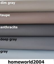 Faux Leather Upholstery Fabric Leatherette GREY BLACK SHADES