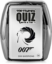 OFFICIAL JAMES BOND 007 TOP TRUMPS FAMILY TRIVIAL QUIZ GAME NEW AND BOXED