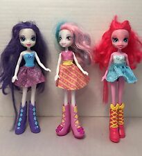 Lot Of 3 Hasbro 2012 My Little Pony EQUESTRIA GIRLS Dolls Collectible Gift
