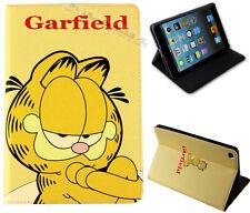 For Apple iPad Mini 1 2 3 Garfield Cat Anime Cartoon Fun Kids Stand Case Cover