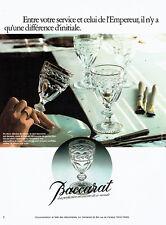 Publicité Advertising 107  1977  Cristal Baccarat le service de l'empereur