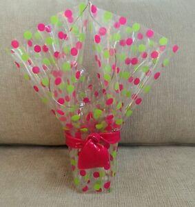 Unique Acrylic Vase Flower Container Or Decorative  Polka Dot Wrap Shape Vase