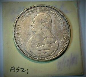 1826-S German Sachsen Thaler KM# 1097 from Old Estate  (184)